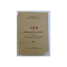 COD DE PROCEDURA CIVILA  ADNOTAT de CONST.GR.C.ZOTTA ,  VOL.IV , 1935