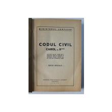 CODUL CIVIL CAROL AL II LEA, EDITIE OFICIALA 1939