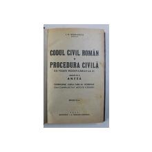 CODUL CIVIL ROMAN SI PROCEDURA CIVILA CU TOATE MODIFICARILE LA ZI , EDITIA II- A de I.C. VASILESCU , 1942
