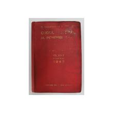 CODUL GENERAL AL ROMANIEI - LEGI UZUALE , VOLUMUL XXX, PARTEA II de C. HAMANGIU , APARUTA 1942 , PREZINTA PETE , HALOURI DE APA SI URME DE UZURA *