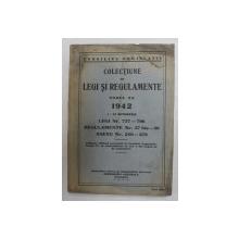 COLECTIUNE DE LEGI SI REGULAMENTE , TOMUL XX , 1 - 31 OCTOMBRIE , 1942  , PREZINTA PETE SI HALOURI DE APA *