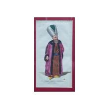 Comandant de artilerie, Gravura colorata, inceput de secol 19