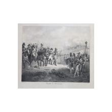 COMBAT DE NEUMARKS (  BATALIA DE LA NEUMARKS ) , LITOGRAFIE de C. MOTTE , MONOCROMA, MIJLOCUL SEC. XIX
