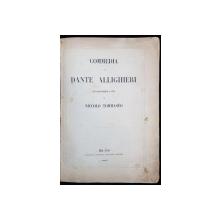 COMMEDIA di DANTE ALLIGHIERI, IL PURGATORIO con ragionamenti e note di NICCOLO TOMASEO - MILANO, 1865