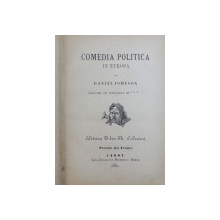 COMEDIA POLITICA IN EUROPA de DANIEL JOHNSON , 1880
