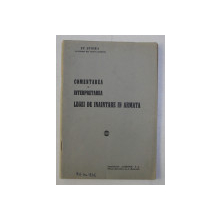 COMENTAREA SI INTERPRETAREA LEGEI DE INAINTARE IN ARMATA de ST. STOIKA , 1937