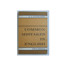 COMMON MISTAKES IN ENGLISH by T. J. FITIKIDES , 1963