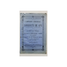 COMPANIA GENERALA DE CONDUCTE DE APA, SOCIETATE ANONIMA DIN LIGE( BELGIA ), CATALOGUL G - 1910