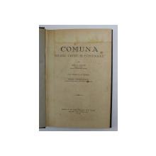 COMUNA. STUDIU CRITIC SI COMPARAT de ION G. VANTU 1928