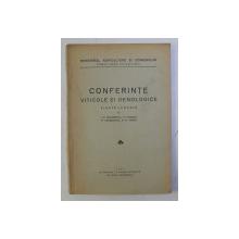 CONFERINTE VITICOLE SI OENOLOGICE TINUTE LA RADIO de I.C. TEODORESCU ...G. TONTICI , 1933