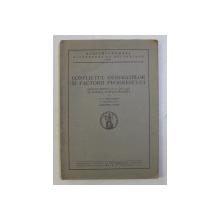 CONFLICTUL GENERATIILOR SI FACTORII PROGRESULUI - DISCURS ROSTIT IN SEDINTA PUBLICA SOLEMNA de P.P. NEGULESCU , 1941