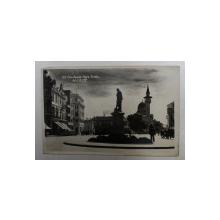 CONSTANTA  - PIATA OVIDIU , FOTOGRAFIE TIP CARTE POSTALA , MONOCROMA , CIRCULATA , DATATA 1938