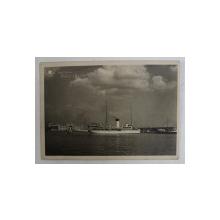 CONSTANTA , VEDERE DIN PORT , FOTOGRAFIE TIP CARTE POSTALA , MONOCROMA, CIRCULATA , DATATA 1941