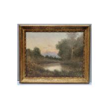 Constantin Aricescu (1861-1933) - Peisaj cu lac