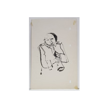 CONSTANTIN BACIU ( 1930 - 2005 ) , BARBAT SUFLAND IN CLARINET  , DESEN