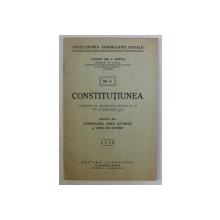 CONSTITUTIUNEA , PUBLICATA IN MONITORUL OFICIAL NUMARUL 48 DIN 27 FEBRUARIE 1938 , NO. 5 de CONST GR. C. ZOTTA , 1938