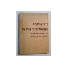 CONSULTATII DE BIBLIOTECONOMIE  BUCURESTI 1969