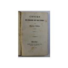 CONTES EN PROSE ET EN VERS , TOME I , par CHARLES NODIER , 1837