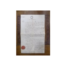 Contract vanzare-cumparare 1852 semnat de primar Paul Brancovan