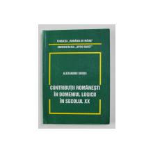 CONTRIBUTII ROMANESTI IN DOMENIUL LOGICII IN SECOLUL XX de ALEXANDRU SURDU , 1999