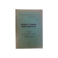 CONTRIBUTIUNI LA DIAGNOSTICUL SIMULATIEI BOALELOR DE OCHI  - TEZA PENTRU DOCTORAT de PETRESCU V. VASILE , 1934