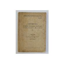 CONTRIBUTIUNI LA STUDIUL ACCIDENTELOR HEMORAGICE IN URMA TERAPIEI CU SARURI DE AUR , TEZA PENTRU DOCTORAT de AUREL LEIBOVICI , 1938 , DEDICATIE*