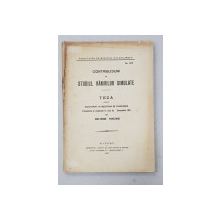 CONTRIBUTIUNI LA STUDIUL RANIRILOR SIMULATE  - TEZA PENTRU DOCTORAT IN MEDICINA SI CHIRURGIE de MELTEDOS PAVLOVICI , 1911