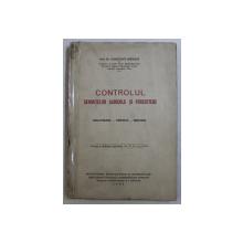 CONTROLUL SEMINTELOR AGRICOLE SI FORESTIERE  - ORGANIZARE - TEHNICA - METODA de CONSTANT NITESCU , 1929
