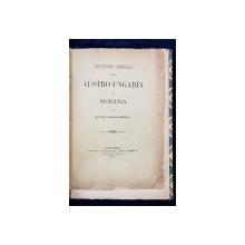 CONVENTIUNEA COMERCIALA INTRE AUSTRO-UNGARIA SI ROMANIA de PRINTUL GEORGE BIBESCU - BUCURESTI, 1885 *DEDICATIE