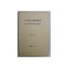 CONVORBIRI LITERARE , LXVII - 4 , APRILIE , 1934