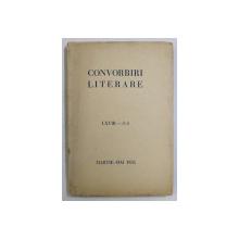 CONVORBIRI LITERARE , LXVIII - 3-5 , MARTIE - MAI , 1935