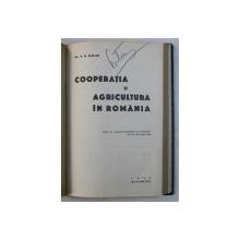 COOPERATIA IN ROMANIA , COLEGAT DE PATRU CARTI * , 1925 - 1937