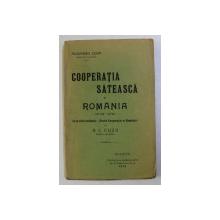 COOPERATIA SATEASCA IN ROMANIA - STUDIU CRITIC - de A. C. CUZA , 1912