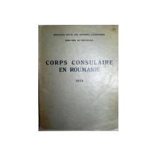 CORPS CONSULAIRE  EN ROUMAINE 1938