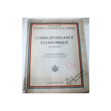 CORRESPONDANCE ECONIMIQUE ROUMAINE BULLETIN OFFICIEL-I.GR.DIMITRESCO