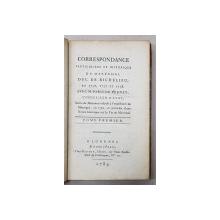 CORRESPONDANCE PARTICULIERE ET HISTORIQUE DU MARECHAL DUC DE RICHELIEU EN 1756..1758 AVE M. PARIS DU VERNEY , TOME PREMIER , 1789
