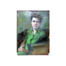 Costin Petrescu (1872-1954) - Portret de tanara