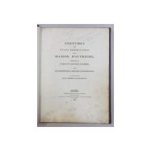 COSTUMES DES ETATS HEREDITAIRE DE LA MAISON D ' AUTRICHE , CONSISTANT EN CINQUANTE COLORIEES , DONT LES DESCRIPTIONS ONT REDIGE par M. BERTRAND DE MOLEVILLE , 1804