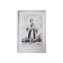COURRIER ARABE DE BAGDADE ( BELGRADE ) par VALERIO THEODORE , GRAVURA , 1855