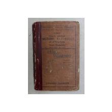 COURS ABREGE D 'HISTOIRE NATURELLE ET D'HYGIENE par V. BOULET , ENSEIGNEMENT PRIMAIRE SUPERIEUR , 1921 , COTOR LIPIT CU BANDA ADEZIVA , COPERTA DEGRADATA
