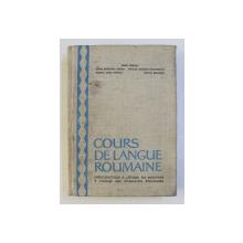 COURS DE LANGUE ROUMAINE par BORIS CAZACU , 1967