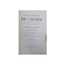 COURS ELEMENTAIRE DE CHIMIE  A L ' USAGE DES LYCEES ET COLLEGES DES CANDIDATS AU BACCALAUREAT ET DES ELEVES EN MEDICINE par C. I. ISTRATI , 1895