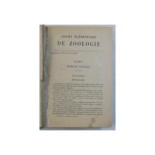COURS ELEMENTAIRE DE ZOOLOGIE par REMY PERRIER , 1929 , LIPSA PAGINA DE TITLU