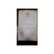 Craiova, Bilet pentru exportul vitelor al negustorului Enache P  1855