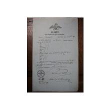 Craiova, Bilet pentru exportul vitelor eliberat negustorului Petru Negulescu, 1855