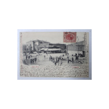 CRAIOVA , PIATA NOUA , CARTE POSTALA ILUSTRATA DUPA FOTOGRAFIE  ORIGINALA  de A. GHEORGHIU , CIRCULATA , 1902 , CLASICA*