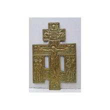 Crucifix din bronz aurit, Rusia, sec. XIX