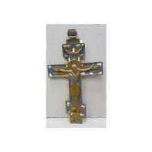 Crucifix din bronz si email, Rusia cca. 1900