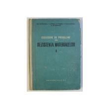 CULEGERE DE PROBLEME DIN REZISTENTA MATERIALELOR de GH. BUZDUGAN , C. MITESCU , R. VOINEA , 1958