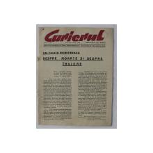 ' CURIERUL  ' , EDITAT DE CONGRESUL NATIONAL ROMAN - AMERICAN , ANUL II , NR. 7 , APRILIE - IUNIE , 1982 , CONTINE TEXTE DE GH. CALCIU DUMITREASA , ION PANTAZI , TRAIAN GOLEA SI ALTII *